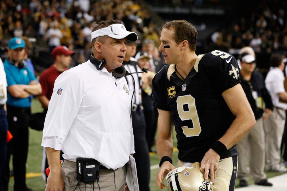 Drew Brees says he believes he and Sean Payton will be back with the Saints next season _lowres