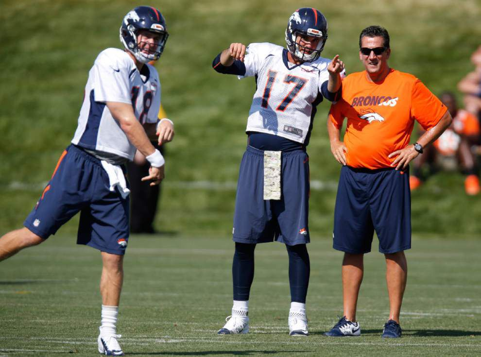 Broncos hope limiting Peyton Manning in camp helps backup Brock Osweiler _lowres