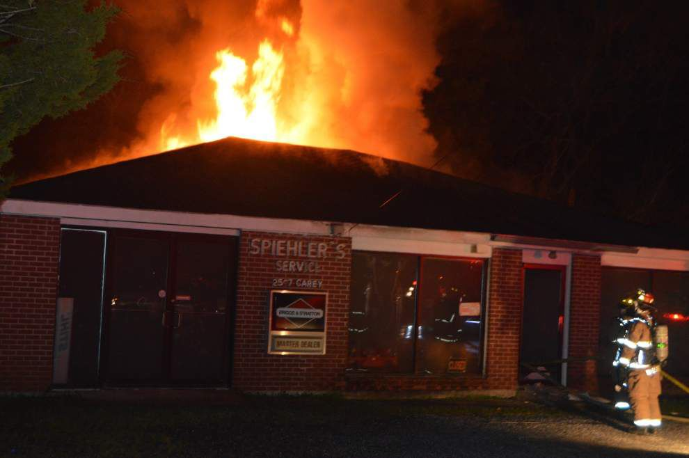 Business damaged by fire in Slidell's Olde Towne _lowres
