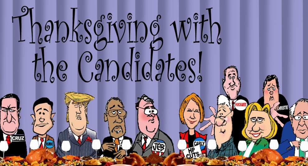 Walt Handelsman animation: Thanksgiving with the Candidates _lowres