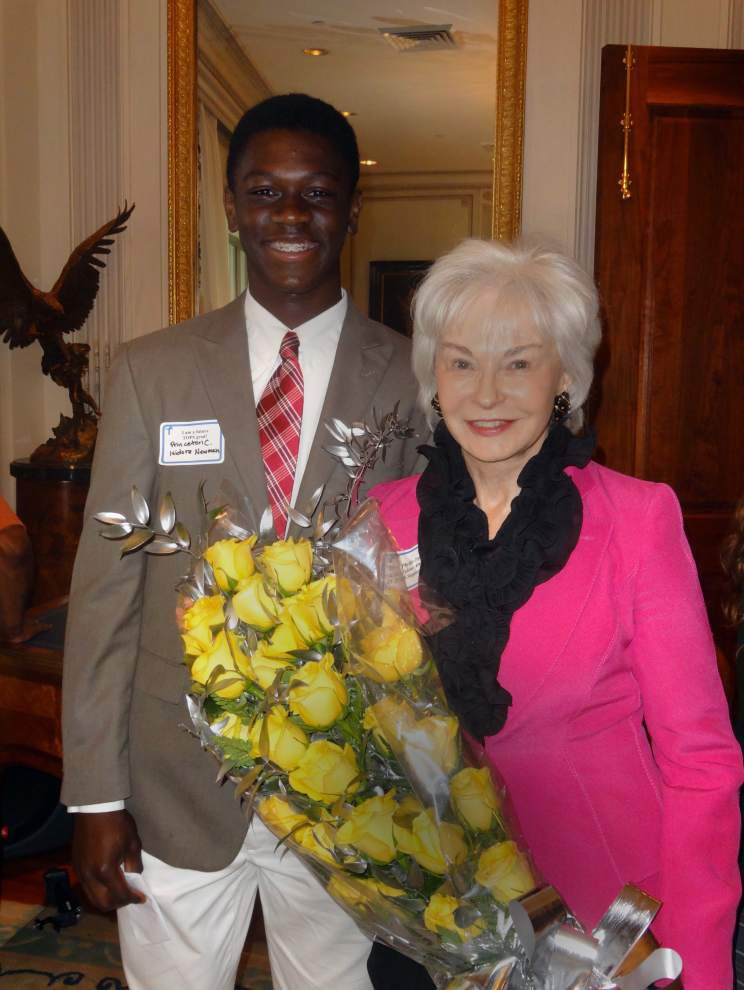 Princeton Carter wins Patrick F. Taylor Foundation Youth Leadership Philanthropy Award _lowres