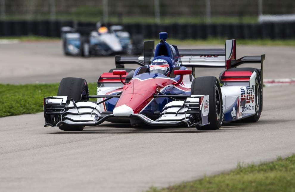 IndyCar drivers eye key passing spots for Indy Grand Prix of Louisiana _lowres