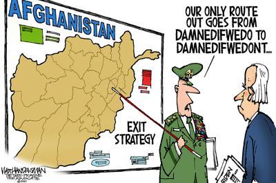 Walt Handelsman: Leaving Afghanistan