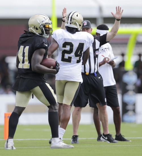new concept 54366 25024 Alvin Kamara and Vonn Bell: Saints camp Friday ...