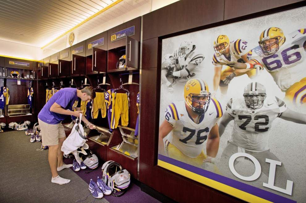 Photos: A look inside -- see how equipment managers prep LSU locker room on gameday _lowres