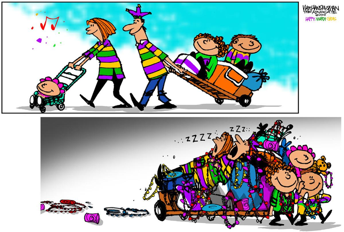 Walt Handelsman: Happy Mardi Gras!