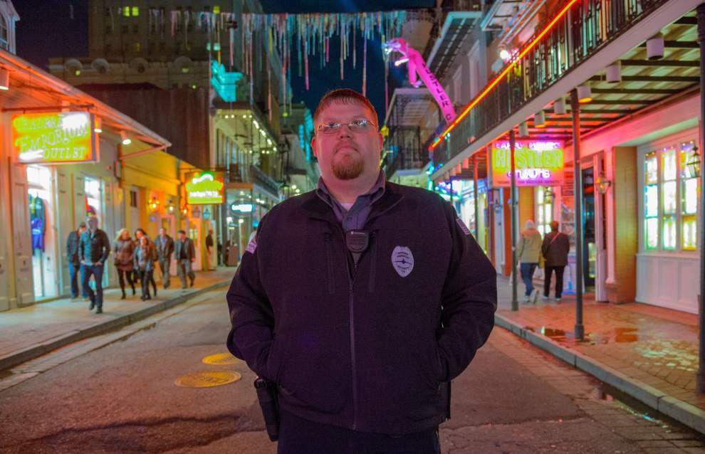 Bourbon Street clubs post armed guards out front as crime fears rise _lowres
