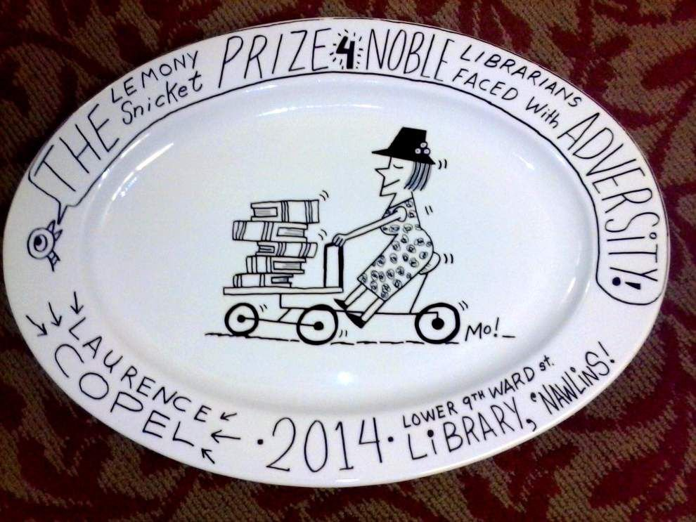 American Library Association awards Laurence Copel its inaugural Lemony Snicket award _lowres