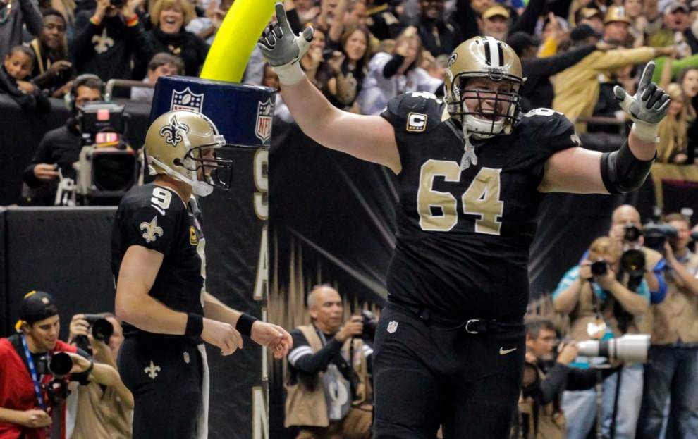 Sunday's season finale at Atlanta could be the last call for the Saints offense's 'core four' of Drew Brees, Marques Colston, Jahri Evans and Zach Strief _lowres