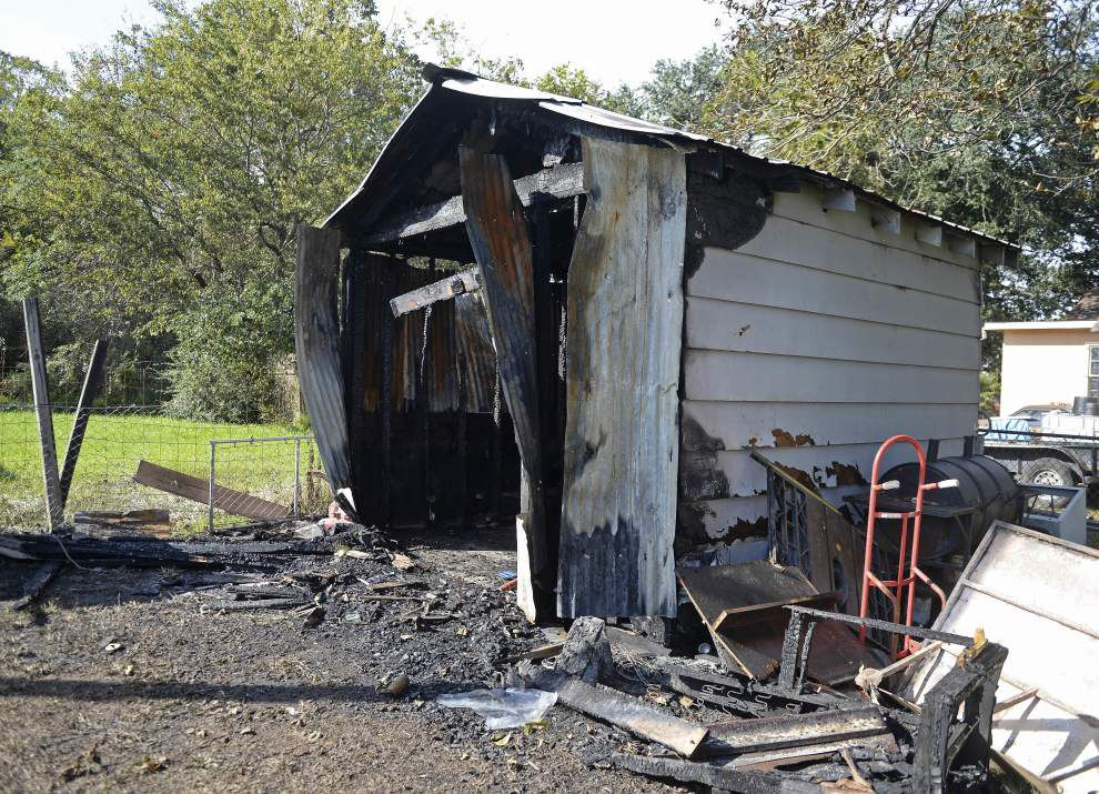 Baton Rouge man's body discovered in backyard shed destroyed by fire _lowres
