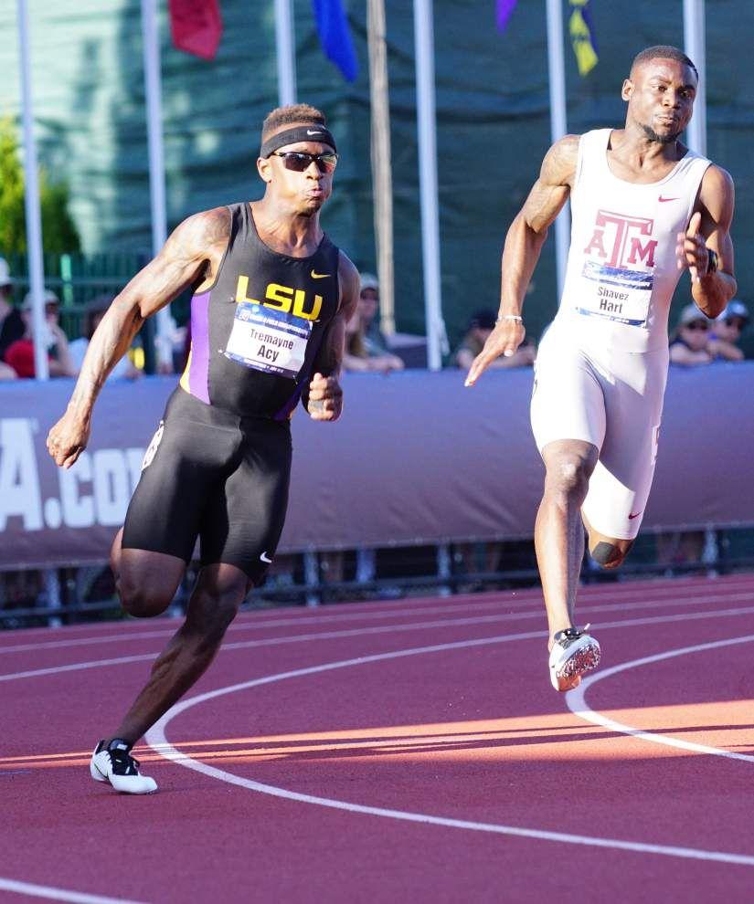 LSU sprinters Aaron Ernest and Tremayne Acy headed toward final in 200 meters _lowres