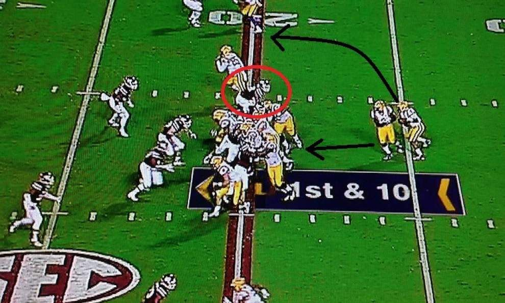 LSU Film Room: A detailed look at TDs, sacks and Brandon Harris' best throw vs. Mississippi State _lowres