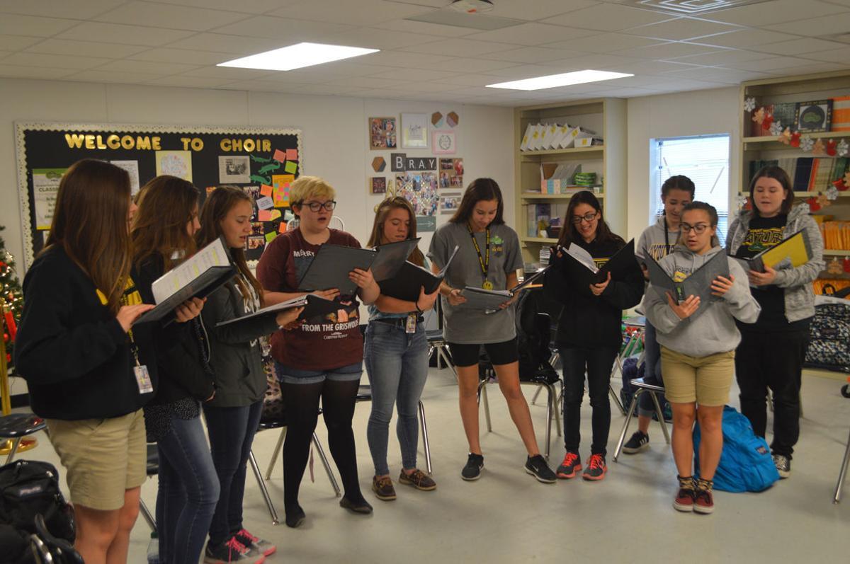 STA Choir Members Practicing For Christmas Concert.JPG