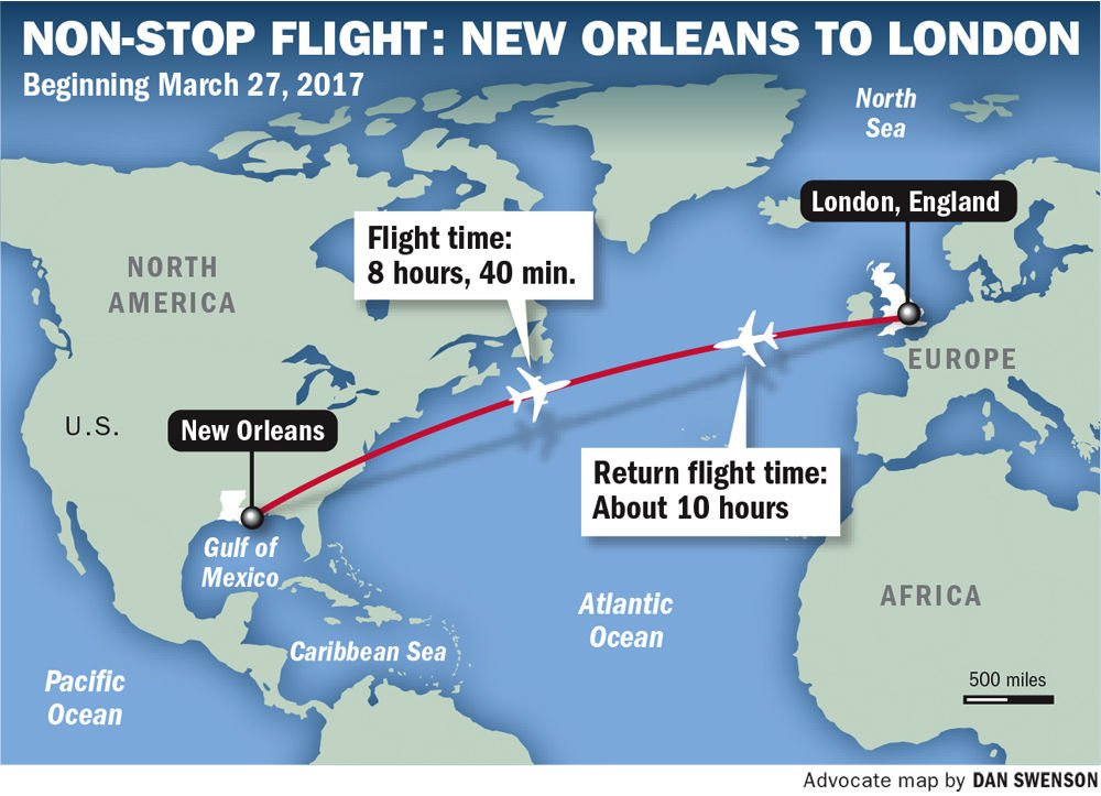 Airport British Airways Make It Official New Orleans To London Flights To Start In 2017 Business Theadvocate Com