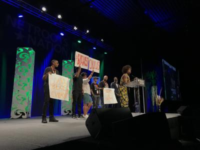 Netroots Nation protest