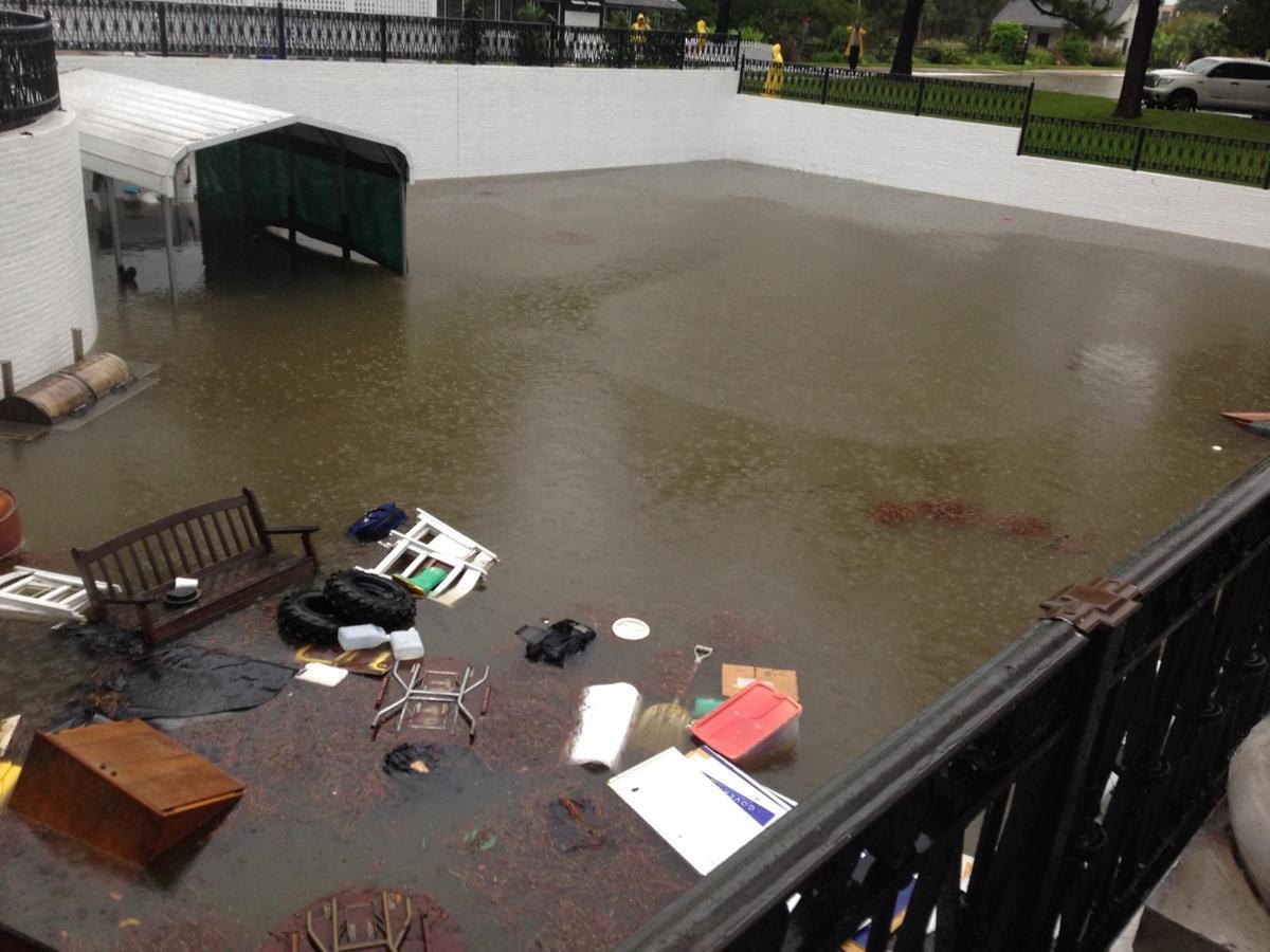 Heavy rain, flooding hit Governor's Mansion