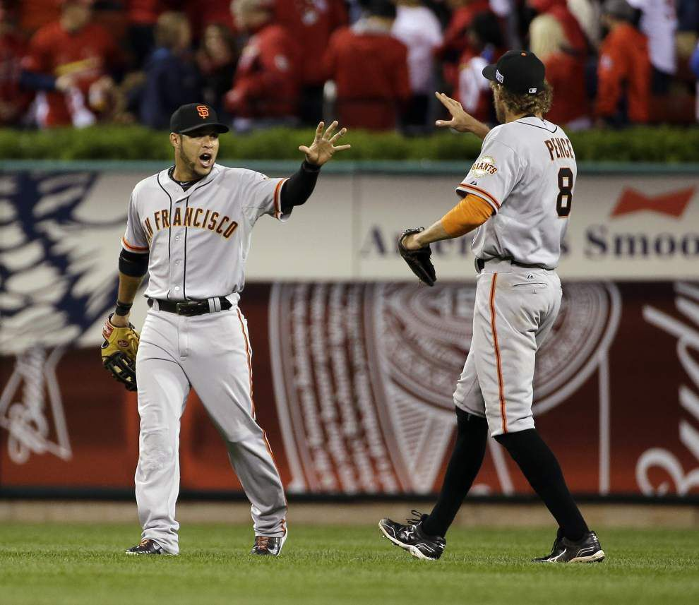 Giants jump up to take 1-0 lead in NLCS _lowres