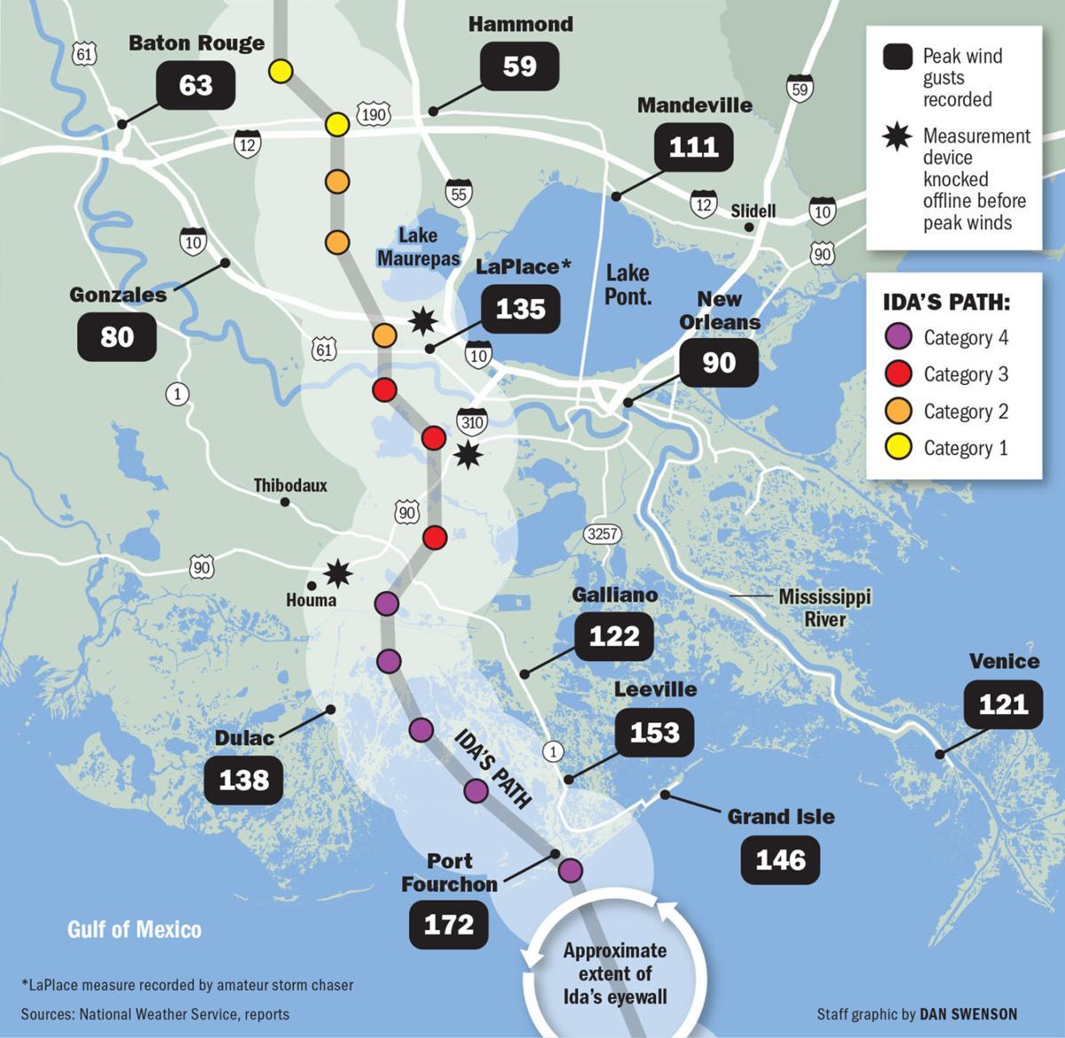 090121 Hurricane Ida Wind Speed Map