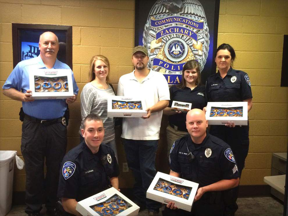 Thank-you treats brought to Zachary police staffers _lowres