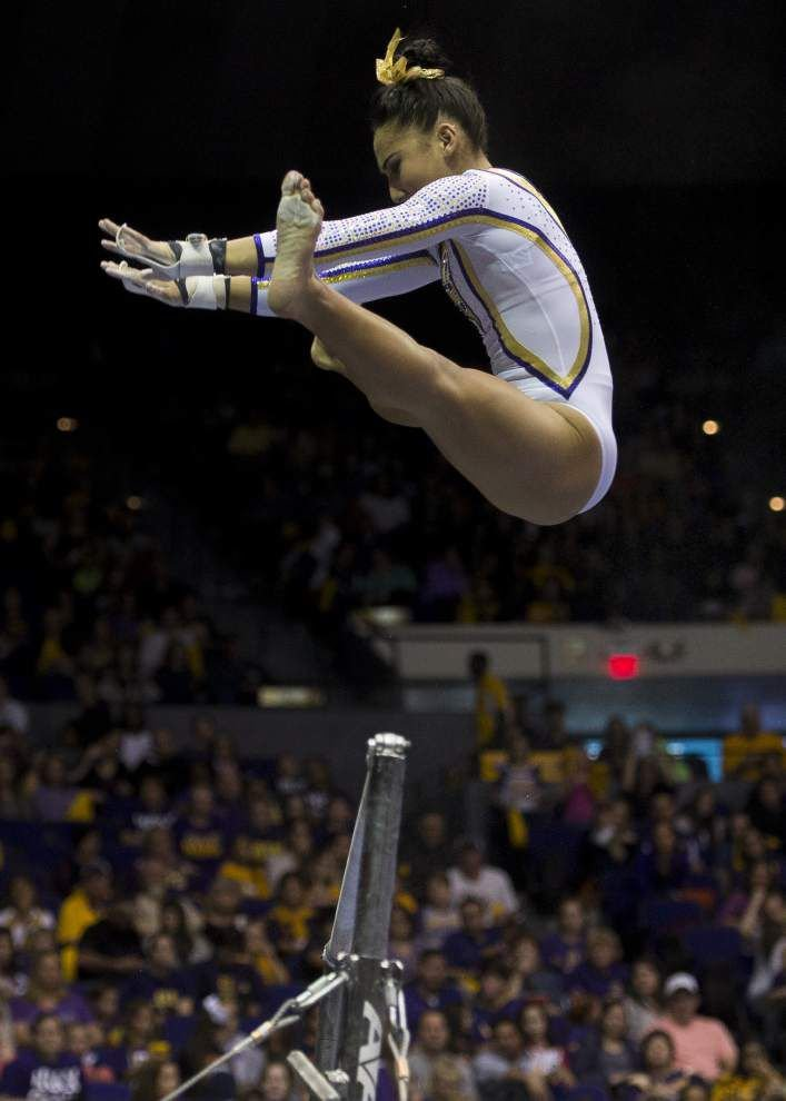 Feeling right at home, LSU gymnast Myia Hambrick relishes her all-around rise _lowres