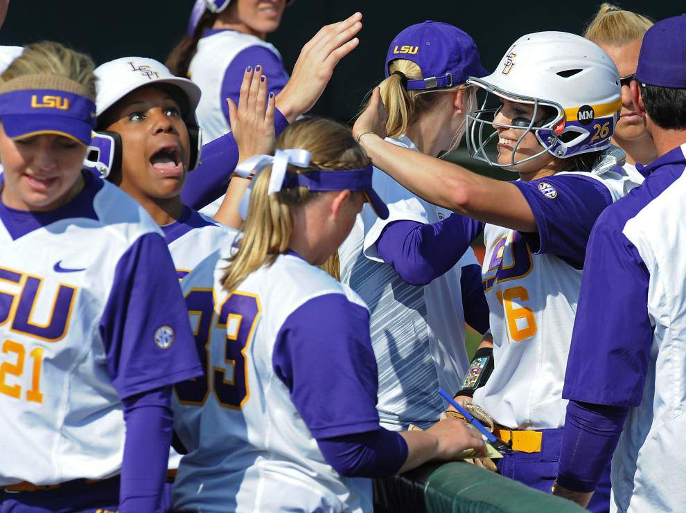 Bailey Landry 'phenomenal' as No. 2 hitter in LSU softball lineup _lowres
