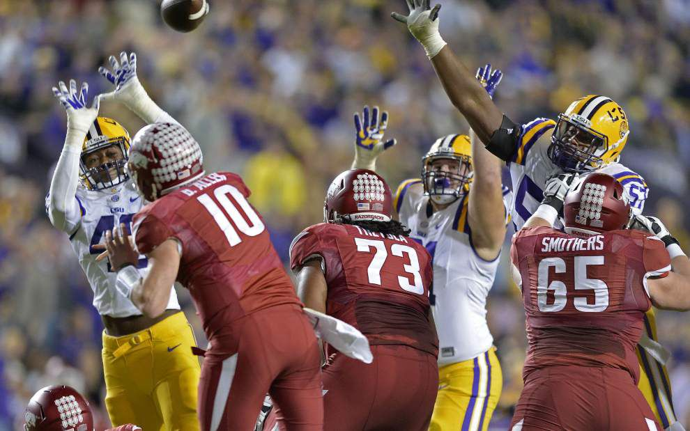 Photos: Our best shots from Arkansas-LSU game day in Baton Rouge, ending with Tigers losing 31-14 in Tiger Stadium _lowres