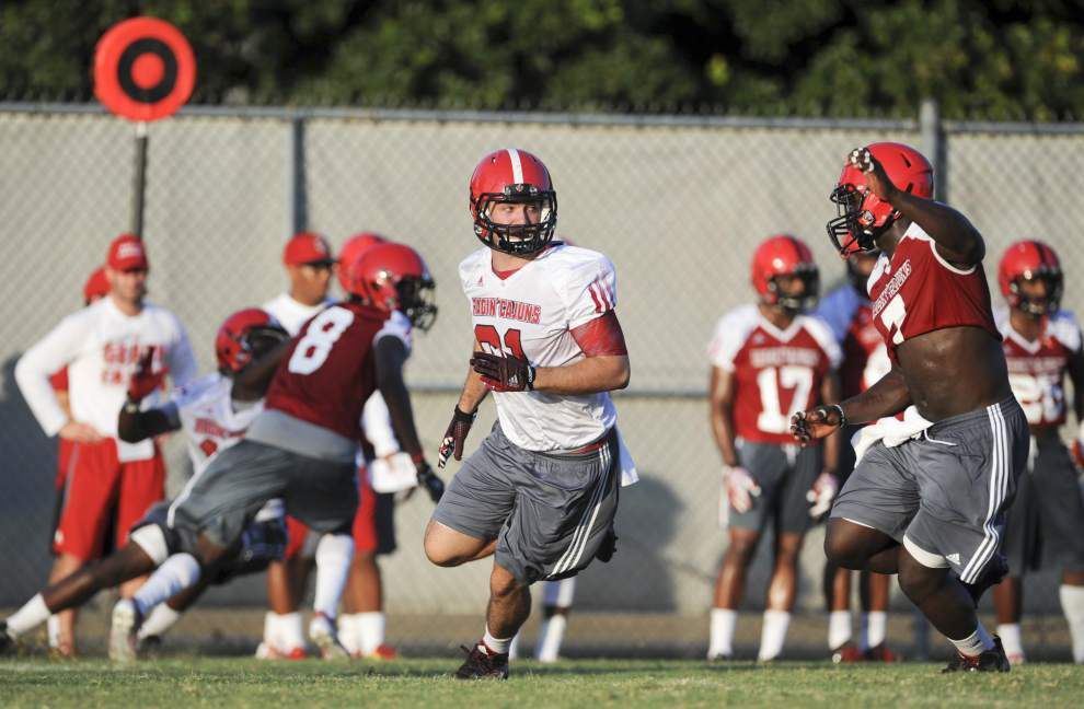 Ragin' Cajuns' Nick Byrne working to make next step at tight end _lowres