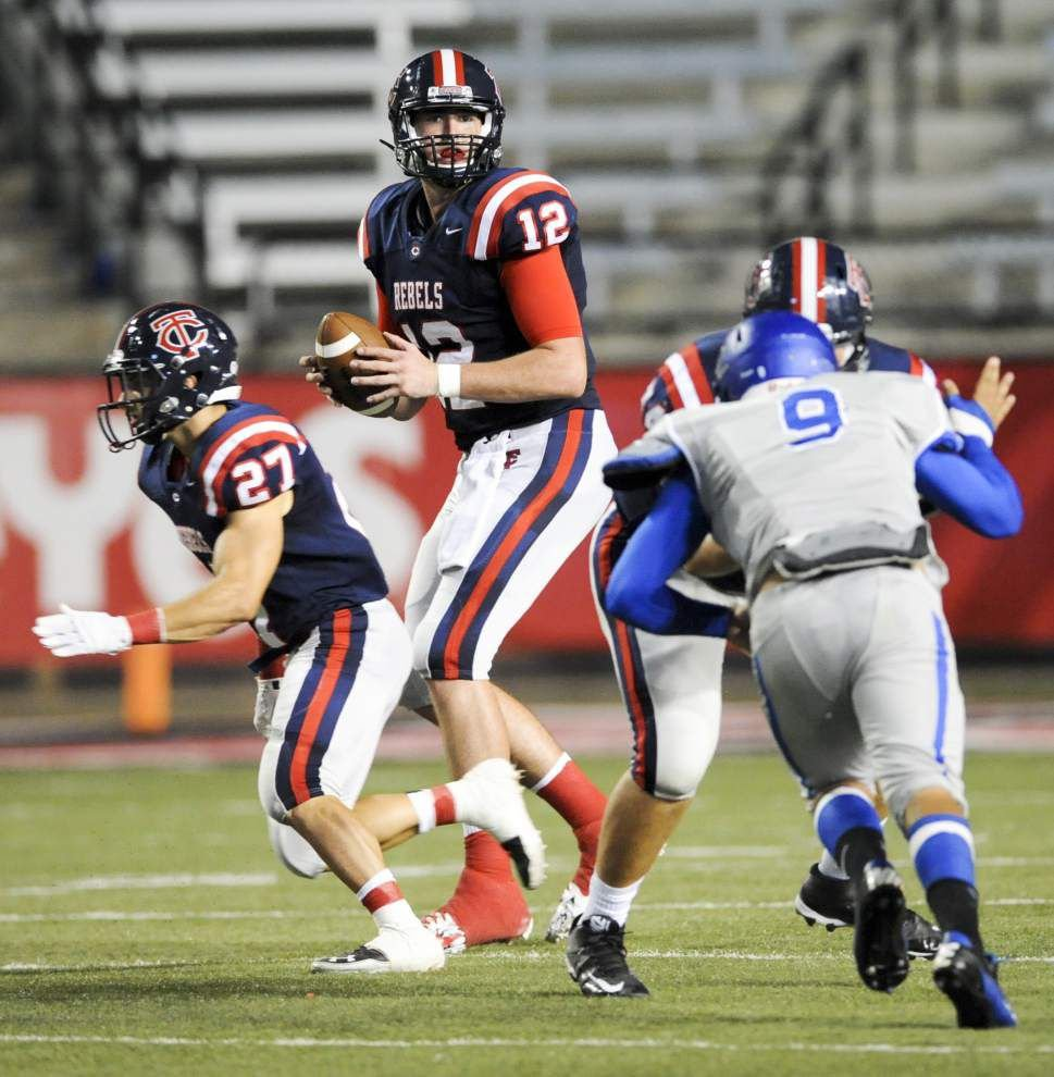 Teurlings quarterback Cole Kelley faces challenge against talented Calvary secondary _lowres