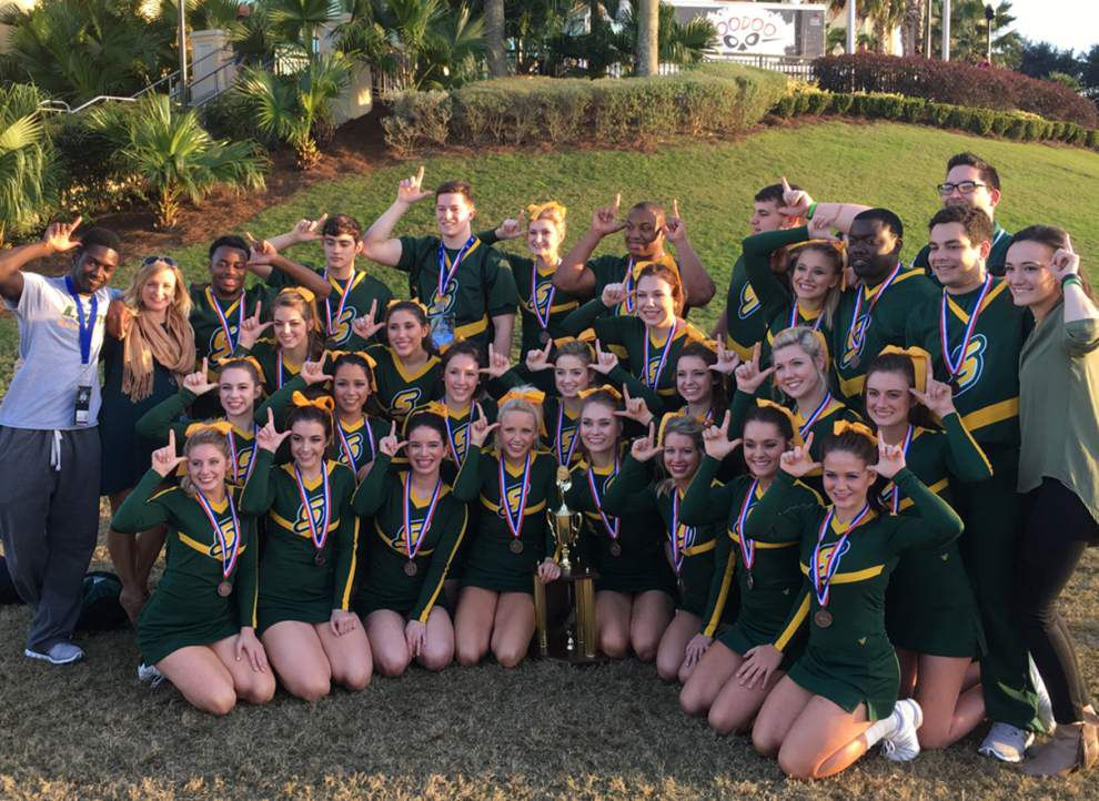 SLU cheerleaders take home awards from meet _lowres