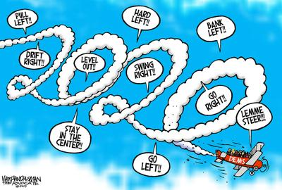 Walt Handelsman: Dems Flight Path