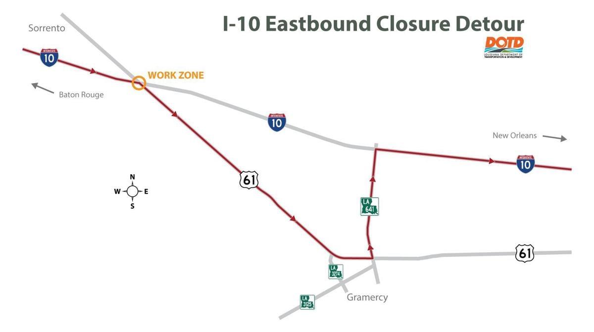 Interstate 10 detour