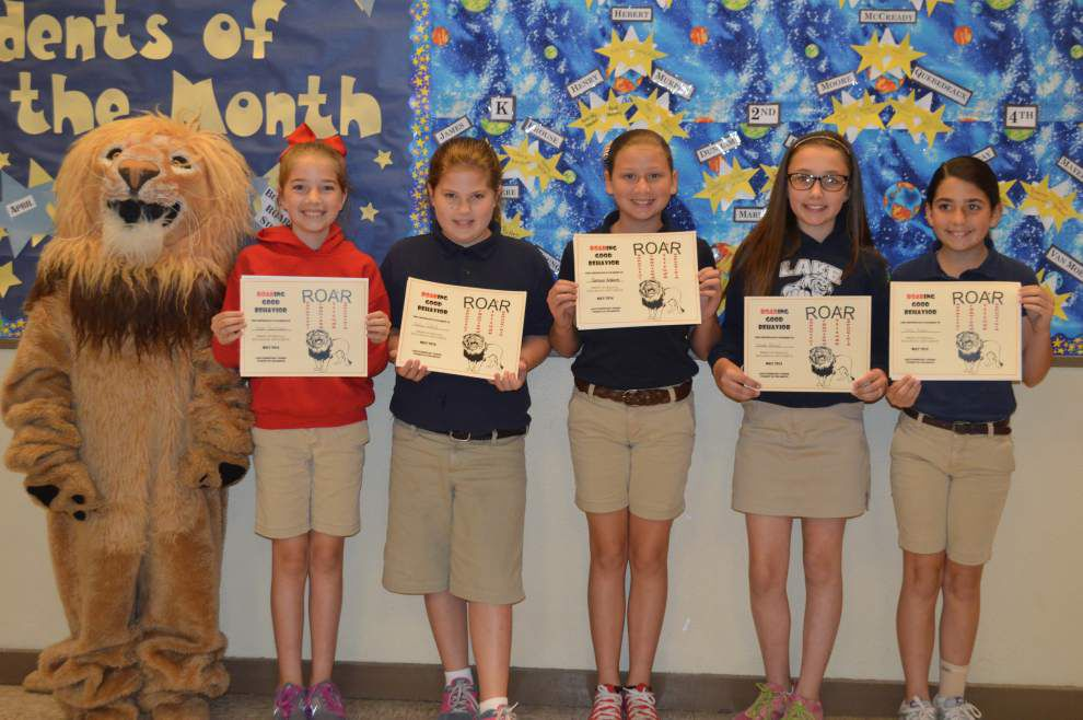 Lake Elementary students of the month _lowres