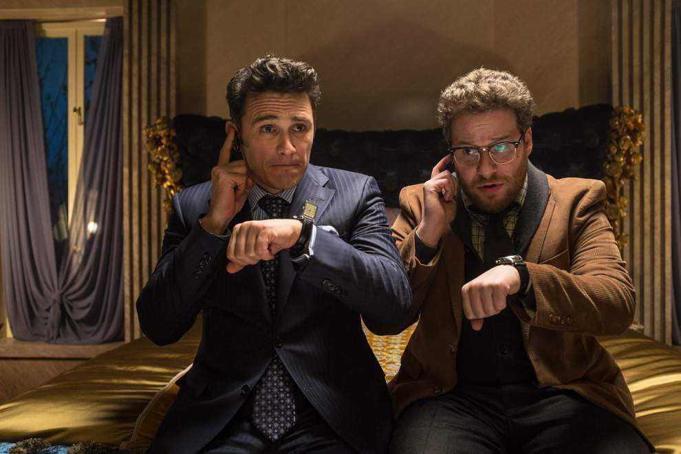 Defiant viewers pack theater for 'The Interview' _lowres