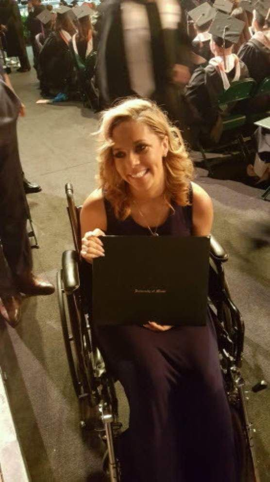 Video: Recovering in wheelchair, Will Smith's wife Racquel posthumously receives husband's MBA from Miami _lowres