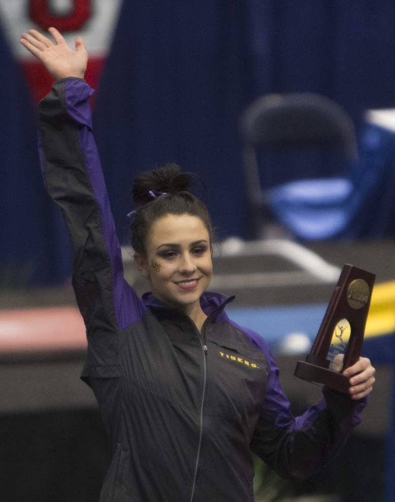 LSU's Rheagan Courville shares another NCAA vault title _lowres