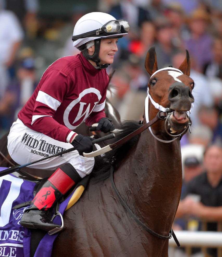Rosie Napravnik wins Breeders' Cup Distaff with Untapable, then reveals she's pregnant and announces her retirement _lowres