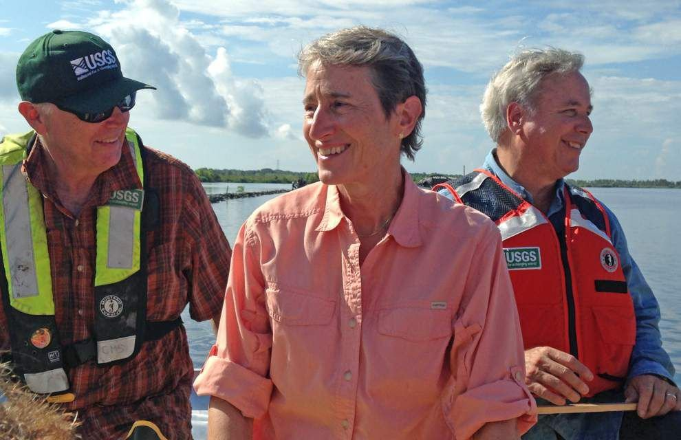 Interior secretary gets first-hand view of how climate change is affecting Louisiana's coast _lowres