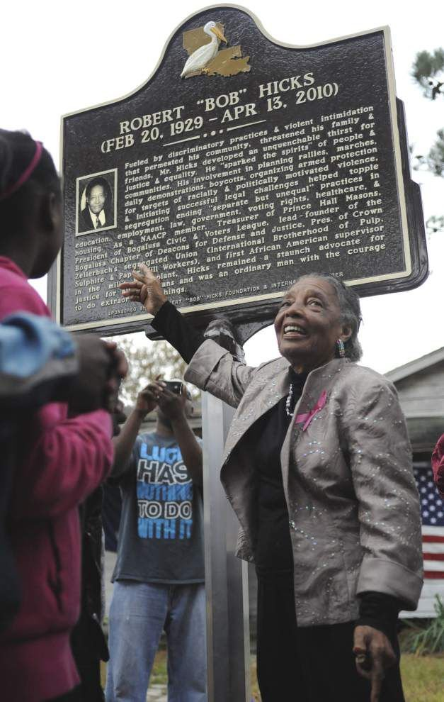 Bogalusa civil rights leader, Deacon for Defense Bob Hicks, honored _lowres
