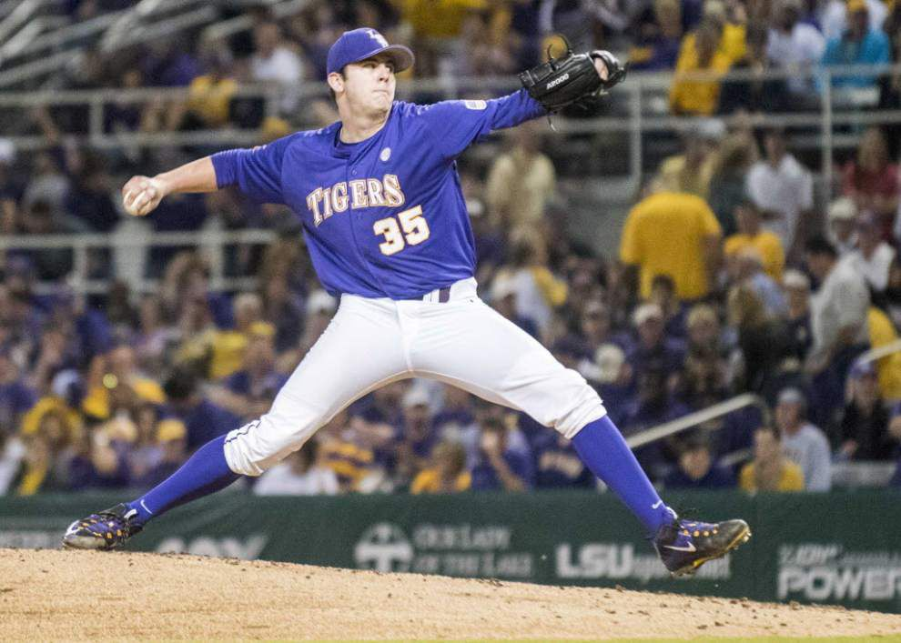 Dellenger: LSU coach Paul Mainieri wants to keep Jared Poche as the Friday night guy... but I bet the coach elevates freshman Alex Lange to No. 1 before too long _lowres