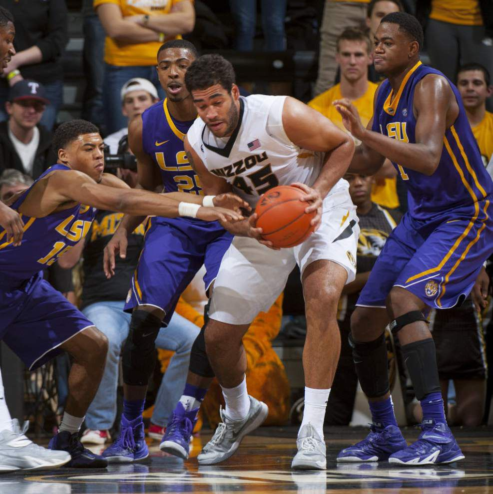 Video: LSU forward Jordan Mickey says free throws and turnovers doomed Tigers in overtime loss at Missouri _lowres