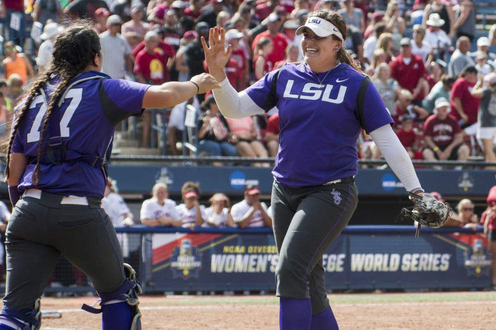 LSU eliminates Alabama in the Women's College World Series; Tigers play again Sunday _lowres