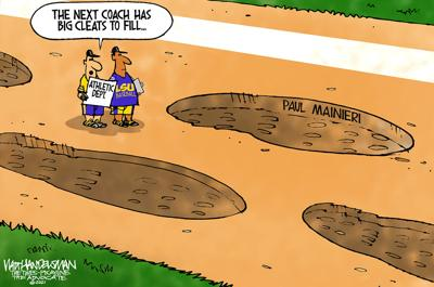 Walt Handelsman: Legendary LSU baseball coach Paul Mainieri to retire after playoffs.