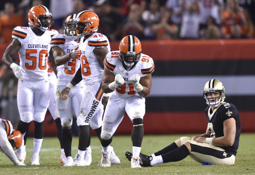 Top pick Garrett struts his stuff as Browns win