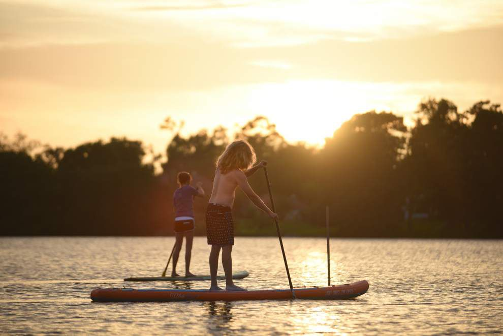 BREC's water sports include paddleboard lessons, adventure _lowres