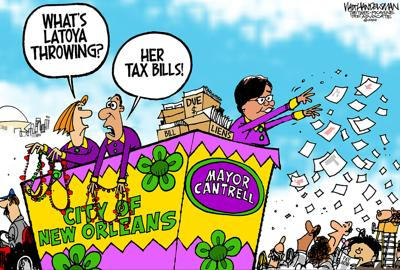 Walt Handelsman: The Mayor's Mardi Gras Throws.