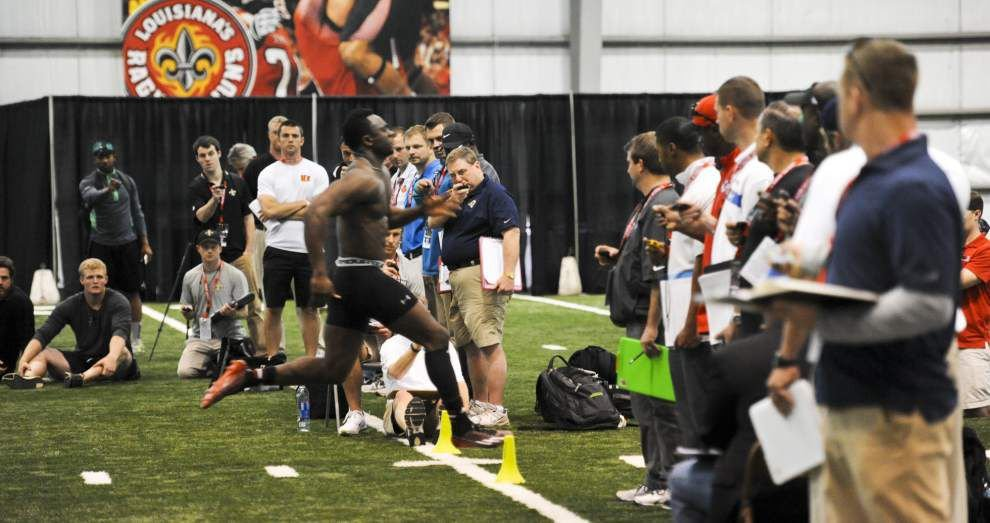 Former Cajuns show off for NFL scouts at Pro Day _lowres