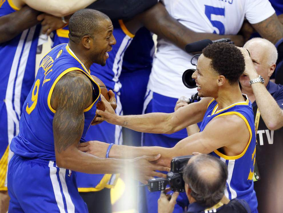 NBA CHAMPIONS: Golden State Warriors top Cavs 105-97 _lowres