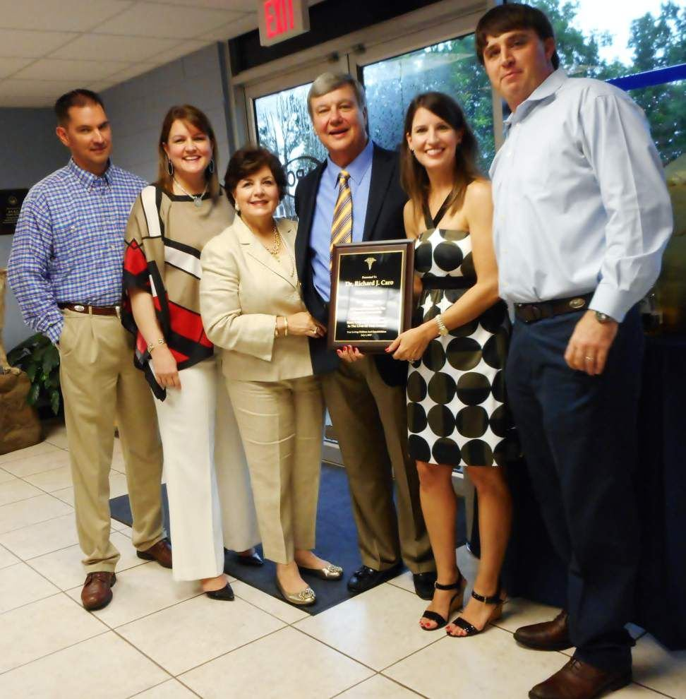 Clinic honors Dr. Caro for 40 years of service _lowres
