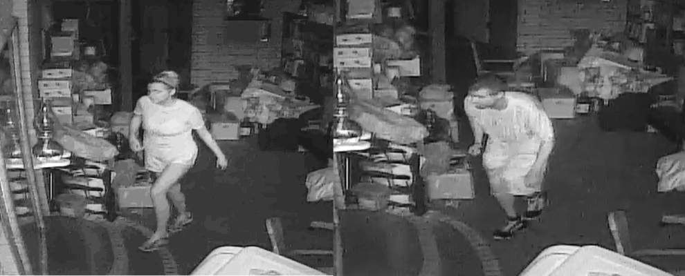Lafayette Police seeking information about these two people caught on camera during a burglary _lowres