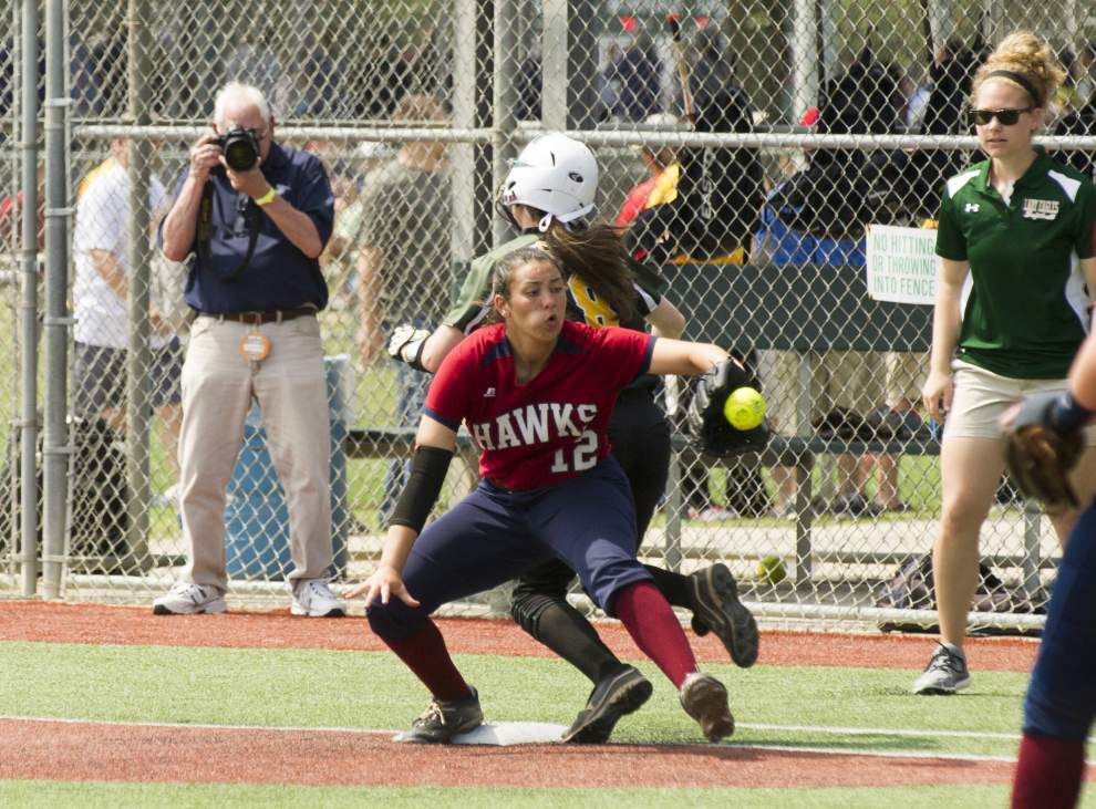 Menard ends Hannan's season again at state softball tournament _lowres